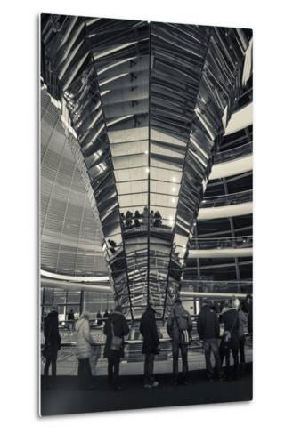 Germany, Berlin, Reichstag, Dome Interior, Evening-Walter Bibikow-Metal Print