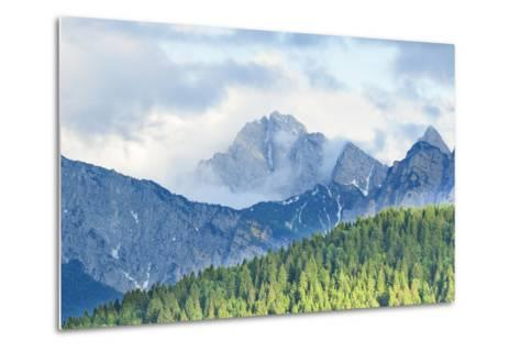 The Mount Sernio Emerges from the Clouds and Stands with Majesty Abiove the Green Woods, Alpi Carni-Gabriele Bano-Metal Print