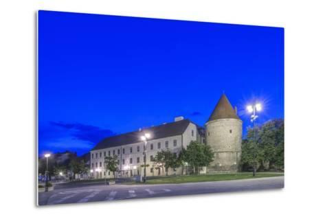 Zagreb Cathedral Fortification at Dawn-Rob Tilley-Metal Print