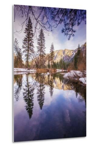 Winter Reflections in Yosemite Valley--Metal Print