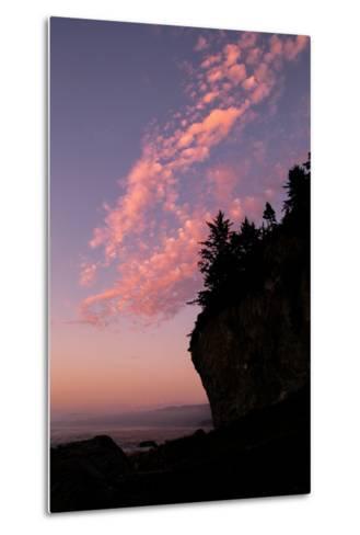 Sunset Cloud Design at Patrick's Point, California Coast--Metal Print