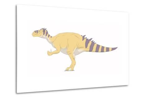 Iguanodon Pencil Drawing with Digital Color-Stocktrek Images-Metal Print