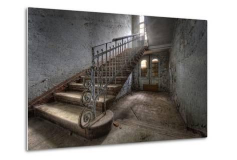 Hospital Stairs-kre_geg-Metal Print