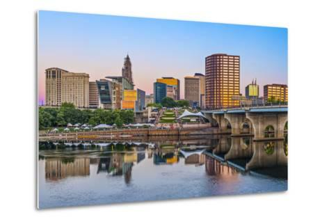 Skyline of Downtown Hartford, Connecticut.-SeanPavonePhoto-Metal Print