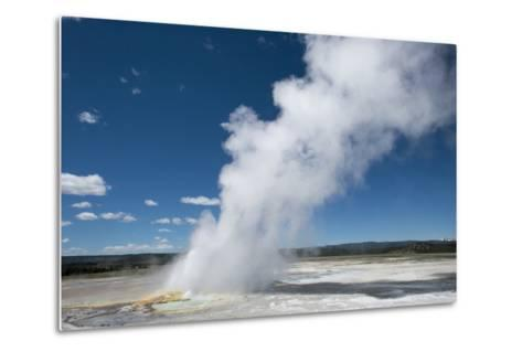 Steam Is Expelled from a Geyser in Yellowstone National Park, Wyoming-Joel Sartore-Metal Print