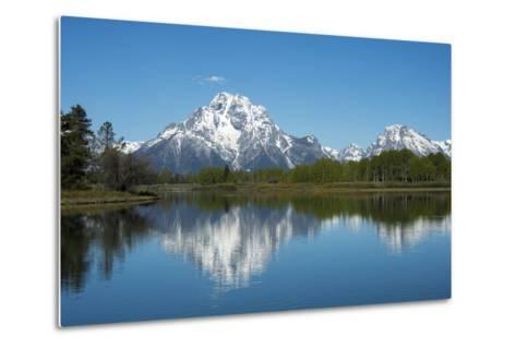 A Mountain Reflected in a Lake in Yellowstone National Park, Wyoming-Joel Sartore-Metal Print