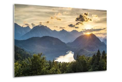 Lake Alpsee in the Bavarian Alps of Germany.-SeanPavonePhoto-Metal Print