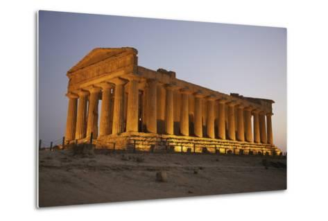 Temple of Concordia in the Valley of the Temples; Agrigento, Sicily, Italy-Design Pics Inc-Metal Print