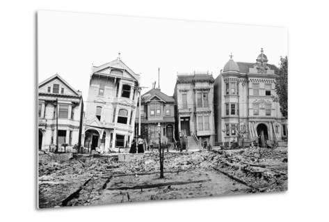 Personal Snapshot of Immediate Post-Earthquake San Francisco in 1906.-Kirn Vintage Stock-Metal Print