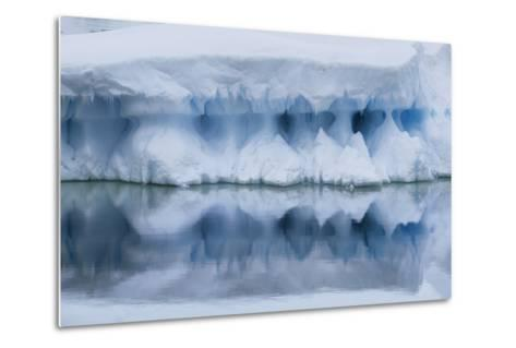 An Iceberg Reflects in the Surface of the Ocean-Jim Richardson-Metal Print