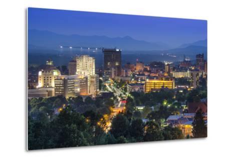 Asheville, North Carolina, USA at Twilight.-SeanPavonePhoto-Metal Print