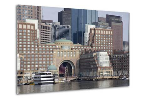 Massachusetts, Boston. Downtown City Skyline and Waterfront-Cindy Miller Hopkins-Metal Print