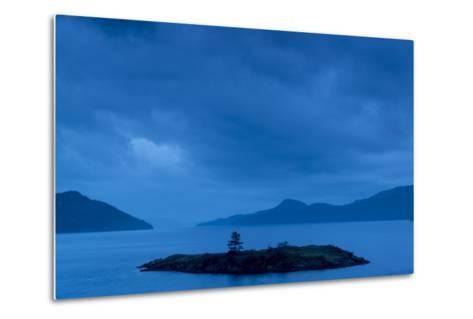 One of the San Juan Islands at Twilight-Michael Melford-Metal Print
