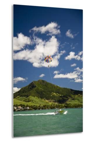 Parasailing; Mauritius-Design Pics Inc-Metal Print