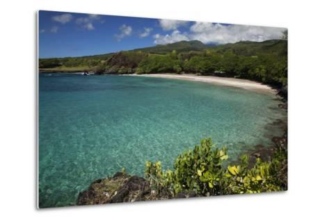 Hawaii, Maui, Hana, a Sunny View of Hamoa Beach with Clear Ocean on a Calm Day-Design Pics Inc-Metal Print