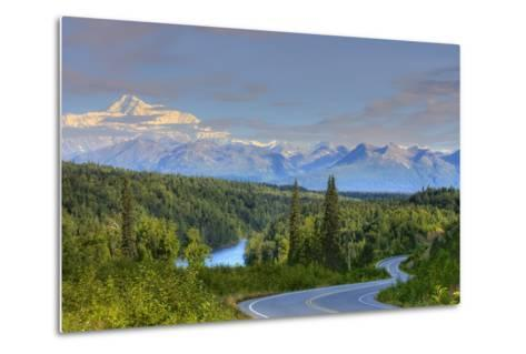 Scenic View of Mt. Mckinley and the Parks Highway Denali National Park Near the Princess Lodge-Design Pics Inc-Metal Print