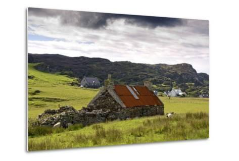 Isle of Colonsay, Scotland; Stone Farmhouse and Surrounding Field-Design Pics Inc-Metal Print