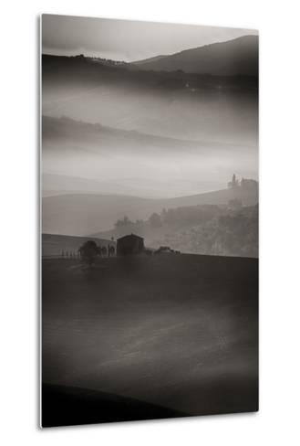 Small Rock Shed in the Vineyards in the Rolling Hills of Tuscany-Terry Eggers-Metal Print