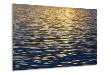 Canada, Sidney Island. Sunset Reflected in Gentle Waves at Sidney Spit-Kevin Oke-Metal Print