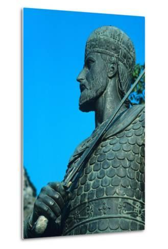 Detail of Statue of Constantine XI Palaiologos-Chris Hellier-Metal Print