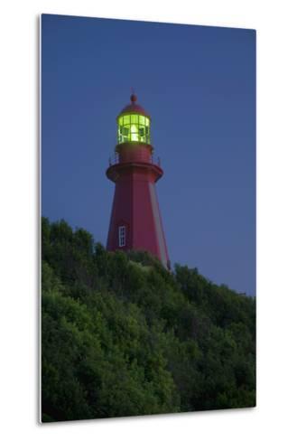 Red Lighthouse Illuminated; La Martre Quebec Canada-Design Pics Inc-Metal Print