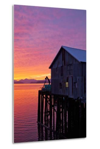 A Fish House over the Water-Michael Hanson-Metal Print