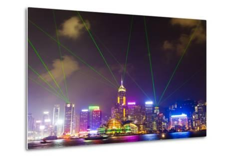 The Symphony of Lights Light and Laser Show over Hong Kong-Mike Theiss-Metal Print