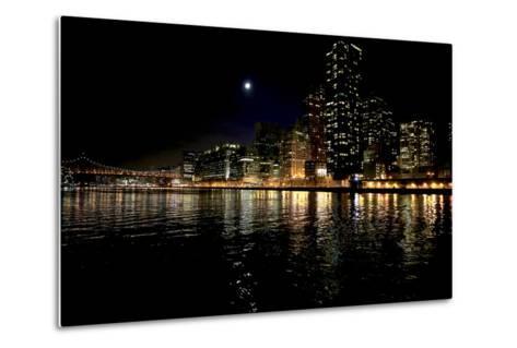 The New York City Skyline Lights Up a December Night-Robbie George-Metal Print