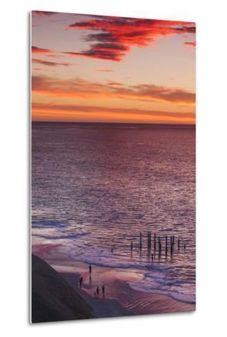 Australia, Fleurieu Peninsula, Port Willunga, Sunset-Walter Bibikow-Metal Print