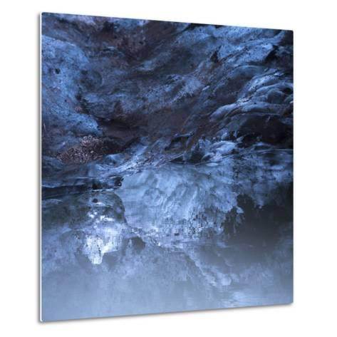 Photo of a Small Ice Cave Taken on Solheimajokull Glacier-Charles Kogod-Metal Print