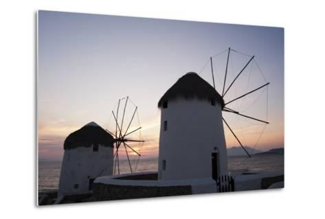 Traditional-Style Windmills on the Coast at Sunset-Sergio Pitamitz-Metal Print