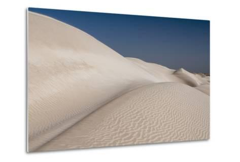 Rippled White Sand Dunes of the Khaluf Desert-Sergio Pitamitz-Metal Print