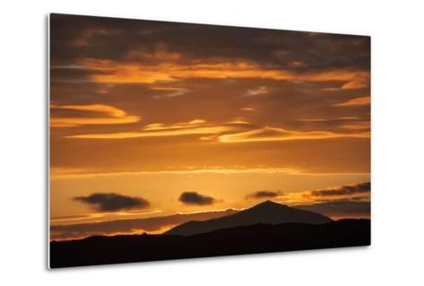 The Channel Between Sombrero Chino Island and Santiago Island in the Galapagos at Sunset-Karen Kasmauski-Metal Print