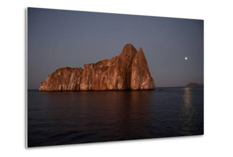 Sleeping Lion Rock Off San Cristobal in the Galapagos at Twilight-Karen Kasmauski-Metal Print