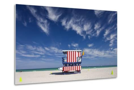 13Th Street Lifeguard Station on Miami Beach-Jon Hicks-Metal Print