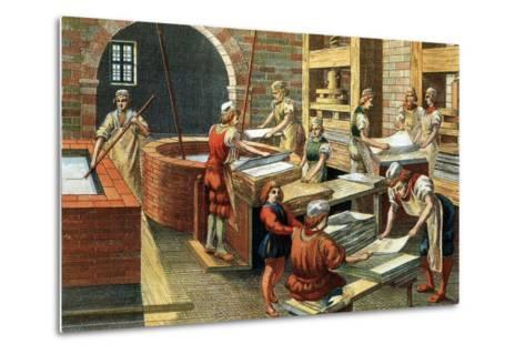 A Papermaking Workshop--Metal Print