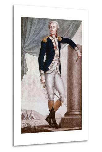 Portrait of Gilbert Du Motier, Marquis De Lafayette--Metal Print