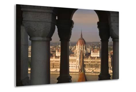 Parliament Building in Budapest-Jon Hicks-Metal Print