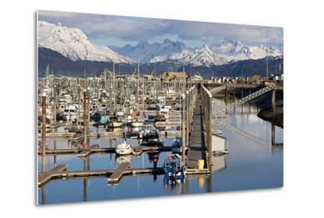 Homer Boat Harbor in Spring, Kenai Peninsula, Alaska-Design Pics Inc-Metal Print