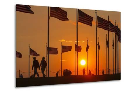 Washington DC Sunset.-Jon Hicks-Metal Print
