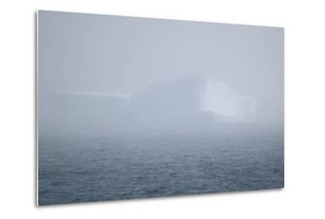 Iceberg Seen through Fog-DLILLC-Metal Print