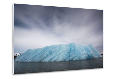 Ice from the Monacobreen Glacier Protrudes into the Sea-Michael Melford-Metal Print