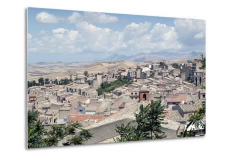 View of the Town of Corleone, Sicily, Italy, Europe-Oliviero Olivieri-Metal Print