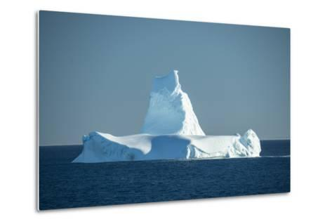A Monument Looking Iceberg in the Labrador Sea-Michael Melford-Metal Print