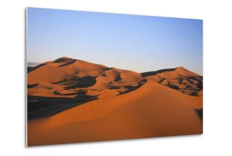 Sand Dunes in the Desert Near Merzouga, Morocco-Rebecca Hale-Metal Print