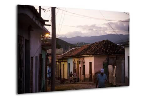 Colorful Buildings in the Small Town of Trinidad, Cuba-Michael Hanson-Metal Print