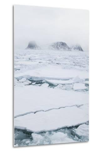 Sea Ice Surrounding Islands-DLILLC-Metal Print