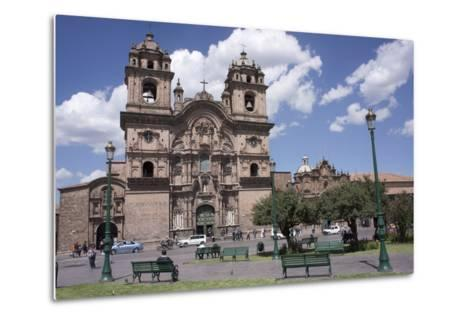 Company of Jesus Church, Plaza De Armas, Cuzco, Peru, South America-Peter Groenendijk-Metal Print