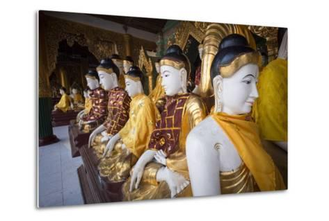 Buddhas at Shwedagon Pagoda in Yangon, Myanmar (Burma)-John and Lisa Merrill-Metal Print