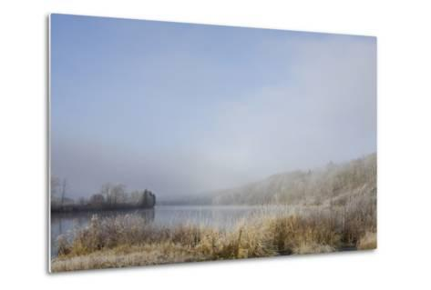 Frost on the Tall Grass Along the Shore of a Lake; Thunder Bay, Ontario, Canada-Design Pics Inc-Metal Print